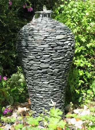 Unique garden stone pots water features and planters for Water feature designs for the garden